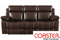 Myleene Reclining Sofa in Chestnut - Click for more details