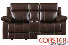 Myleene Glider Loveseat in Chestnut - Click for more details