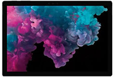 "Microsoft Surface Pro 6 12.3"" i7 - Black (Intel Core i7-8650U/8GB RAM/256GB SSD/Win 10Pro) - Click for more details"
