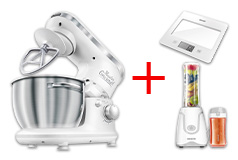 Sencor 3620WH Stand Mixer, Smoothie Maker & Kitchen Scale Bundle - Click for more details