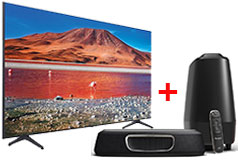 "Samsung 50"" 4K Smart TV 2020 Model & Polk Magnifi Mini Home Theatre"