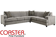 Coaster Tess L-Shape Sleeper Sectional in Grey - Click for more details