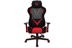TygerClaw Ergonomic High-Back Relax Executive Gaming Chair -Black/Red - Click for more details