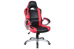 TygerClaw Executive High Back Gaming Style Chair Black/Red - Click for more details