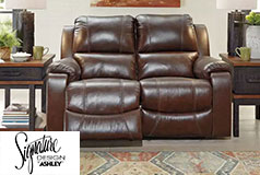 Ashley Rackingburg Rackingburng Loveseat in Mahogany - Click for more details