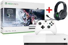 Xbox One S 1TB Star Wars Jedi: Fallen Order & PDP Wireless Headset Bundle - Click for more details