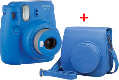 Fujifilm Instax Mini 9 Instant Camera & Groovy Case Bundle in Cobalt Blue - Click for more details