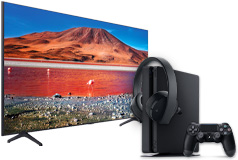 "NEW Samsung 55"" TU7000 Crystal UHD 4K Smart TV 2020 Model & PS4 Slim 1TB Bundle - Click for more details"