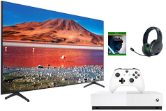 "Samsung 55"" TU7000 Smart 4K UHD TV, Xbox One S 1TB Star Wars Jedi & PDP headset Bundle - Click for more details"