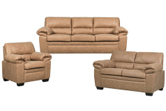 Jamieson Sofa Set Collection in Caramel, Includes: Sofa, Loveseat & Chair - Click for more details