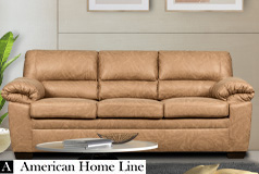 Jamieson Luxury Sofa in Caramel - Click for more details