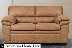 Jamieson Luxury Loveseat in Caramel - Click for more details