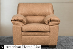 Jamieson Luxury Chair in Caramel - Click for more details