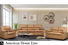 Jamieson Luxury Sofa Set Collection in Caramel, Includes: Sofa, Loveseat & Chair - Click for more details