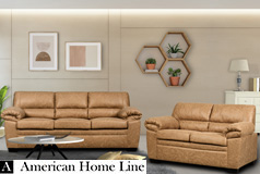 Jamieson Luxury Sofa Set Collection in Caramel, Includes: Sofa & Loveseat - Click for more details