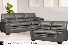 Jamieson Luxury Sofa Set Collection in Pewter, Includes: Sofa & Loveseat - Click for more details