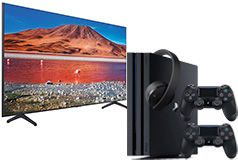 "NEW Samsung 58"" TU7000 UHD 4K Smart TV, PS4 Pro 1TB & Headset Bundle - Click for more details"