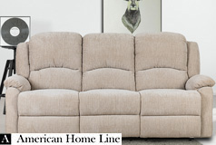 Crawford Luxury Recliner Sofa in Beige - Click for more details