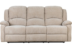 Crawford Recliner Sofa in Beige - Click for more details