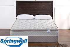 "Ruby 9.5"" Eurotop Plush Continuous Coil Full Mattress & Boxspring"