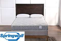 "Garnet 10"" Tight Top Firm Pocket Coil Queen Mattress & Queen Boxspring - Click for more details"