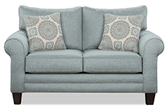 Tamy Fabric Loveseat  in Mist Color Fabric - Click for more details