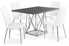 Marco 5-Piece Dining Package – White - Click for more details