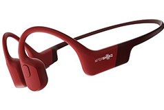 AfterShokz Aeropex Bone Conduction Bluetooth Headphones - Solar Red - Click for more details