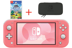 Nintendo Switch Lite - Coral Bundle - Click for more details
