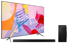 "Samsung 50"" Q60T 4K Smart QLED TV 2020 Model & Samsung 3.1Ch 340W Soundbar HW-T650 - Click for more details"