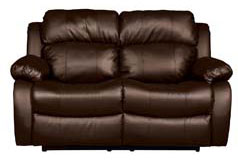 "<span style=""background-color: #ffffff; text-decoration-style: initial; text-decoration-color: initial;"">Bonded Leather Recliner Loveseat  in Brown - Click for more details"