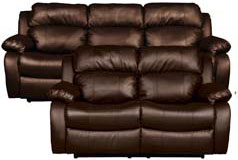 "<span style=""background-color: #ffffff; text-decoration-style: initial; text-decoration-color: initial;"">Bonded Leather Recliner Sofa and Loveseat Set <br />in Brown - Click for more details"