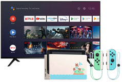 "Skyworth 65"" 4K UHD Smart TV & Nintendo Switch Special Edition Bundle - Click for more details"