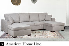 Hannah Luxury Double Chaise Sectional & Sleeper - Click for more details