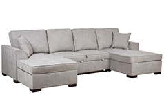 Hannah Double Chaise Sectional & Sleeper - Click for more details