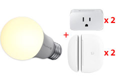 Samsung SmartThings Bundle (1 x Bulb, 2 x Plug, 2 x Sensor) - Click for more details