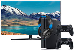 "Samsung 65"" TU8500 Smart 4K UHD TV & PlayStation 4 Slim 1TB + Recon 70 Headset - Click for more details"