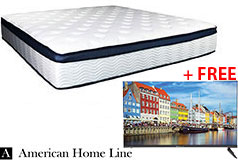 "Sleep Rest 13"" Comfort-Top Plush King Mattress + FREE Bolva 32'' HD LED TV - Click for more details"