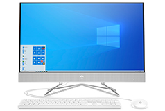 "HP All-in-One Natural Silver 27"" Desktop (AMD R5 3500U/12GB/256GB/Win 10 Home) - Click for more details"