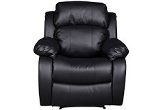 Bonded Leather Recliner in Black  - Click for more details