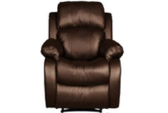 Bonded Leather Recliner  in Brown - Click for more details
