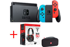 Nintendo Switch Console with Travel Case & Turtle Beach Recon 50 Headset Bundle - Click for more details