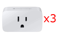 Samsung SmartThings Outlet WiFi Smart Plug in White - Bundle of 3 - Click for more details