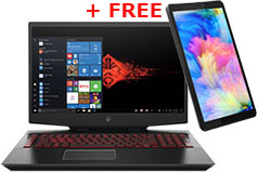 "HP Omen 17.3"" i7-10750H Gaming Laptop + FREE Lenovo Tab M7 7"" 16GB (2nd Gen) Tablet - Click for more details"