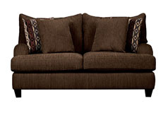 Alexa  Chenille Loveseat in Chocolate - Click for more details