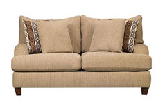 "Alexa<span style=""background-color: #ffffff; text-decoration-style: initial; text-decoration-color: initial;""> Chenille Loveseat  in Beige - Click for more details"