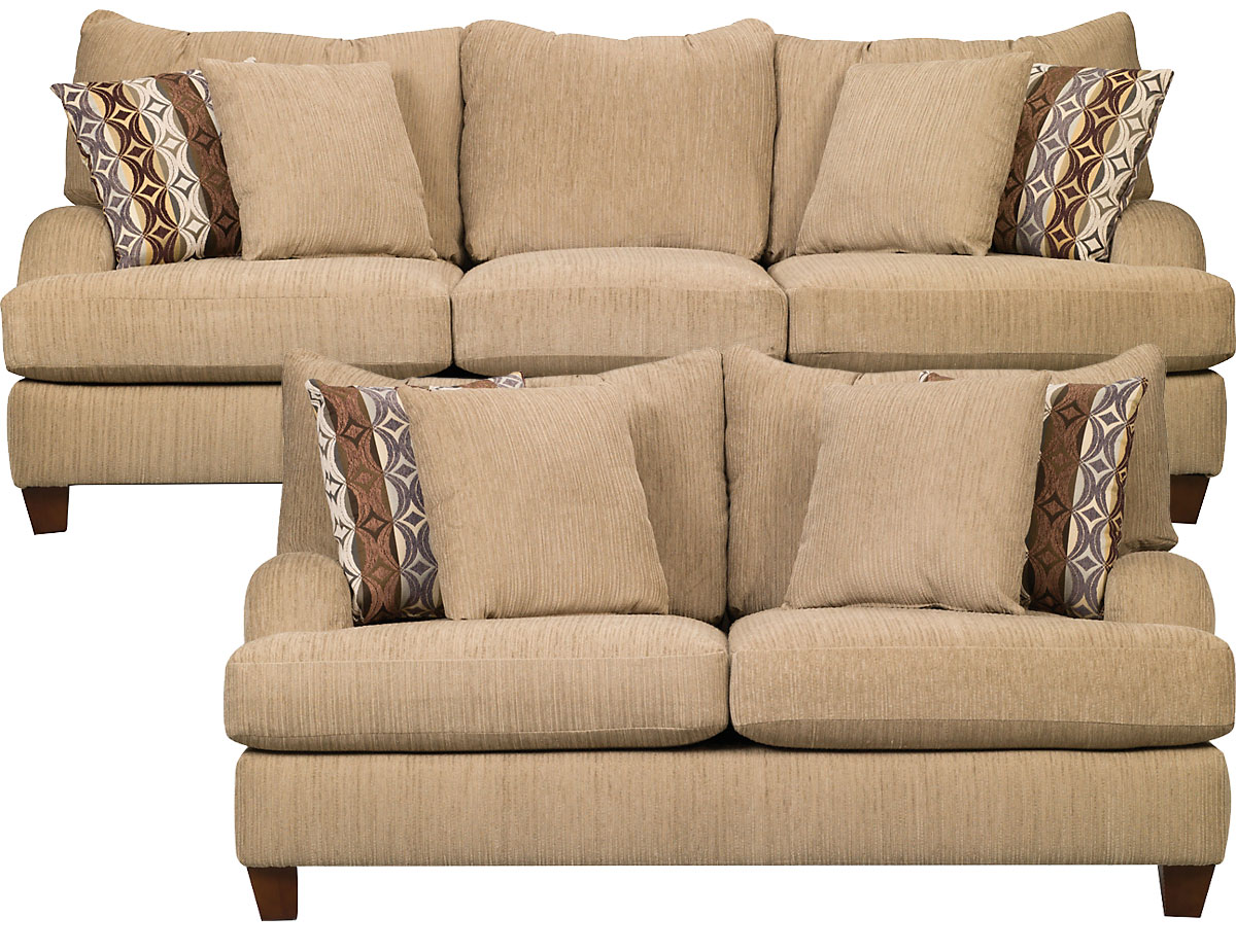 Finance living room packages sofa loveseat chair sets Chenille sofa and loveseat