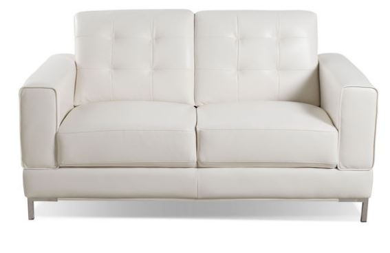 Vista Leather-Like Loveseat in Black