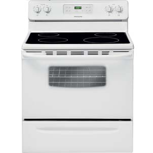 Frigidaire 5.3 Cu. Ft. Self-Clean Smooth-Top Range in White