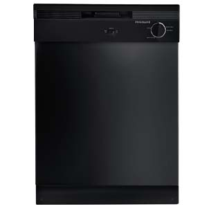 "Black Frigidaire 24"" Built-In Dishwasher"